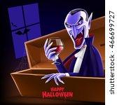 vampire for halloween | Shutterstock .eps vector #466699727