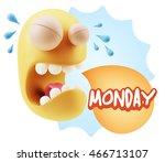 3d illustration sad character... | Shutterstock . vector #466713107