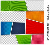 set of comic book backgrounds... | Shutterstock .eps vector #466725167