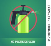 bug spray in prohibition sign...   Shutterstock .eps vector #466742567
