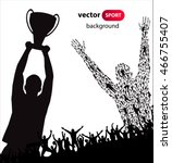 champions cup. poster  | Shutterstock .eps vector #466755407