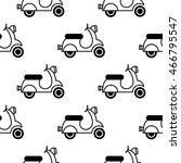 moped. vector seamless pattern | Shutterstock .eps vector #466795547