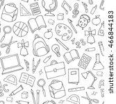vector school supplies seamless ... | Shutterstock .eps vector #466844183