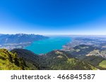 Panorama View Of Lake Geneva...