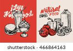 vector illustrations set  ... | Shutterstock .eps vector #466864163