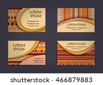 business card or visiting card... | Shutterstock .eps vector #466879883