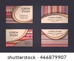 business card or visiting card... | Shutterstock .eps vector #466879907