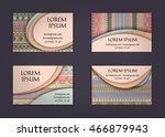 business card or visiting card... | Shutterstock .eps vector #466879943