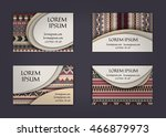 business card or visiting card... | Shutterstock .eps vector #466879973