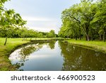 landscape in city park with... | Shutterstock . vector #466900523