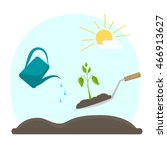 plant cultivation and gardening ... | Shutterstock .eps vector #466913627