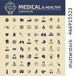 medical   healthy care icon... | Shutterstock .eps vector #466915523