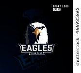 modern professional eagle logo... | Shutterstock .eps vector #466935863