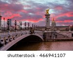 alexandre 3 bridge   paris  ... | Shutterstock . vector #466941107