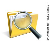 search concept with magnifying... | Shutterstock .eps vector #466942517