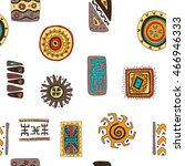 set of african designs. pattern ... | Shutterstock .eps vector #466946333