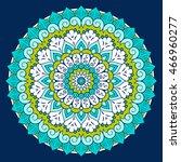 flower mandalas. vintage... | Shutterstock .eps vector #466960277