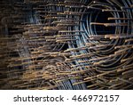 an steel bar rusty with soft... | Shutterstock . vector #466972157