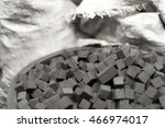 Bowl Of Charcoal Cubes For...