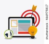 social network concept... | Shutterstock .eps vector #466975817
