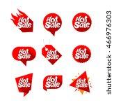 set of design elements for hot... | Shutterstock .eps vector #466976303