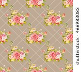 seamless floral pattern with... | Shutterstock .eps vector #466983083