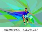geometric polygonal... | Shutterstock .eps vector #466991237