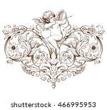 vintage decorative element... | Shutterstock .eps vector #466995953