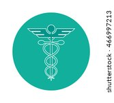 flat design rod of asclepius... | Shutterstock .eps vector #466997213