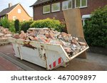 loaded dumpster near a... | Shutterstock . vector #467009897