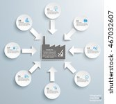 8 white arrows with industry... | Shutterstock .eps vector #467032607