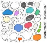 different sketch style speech... | Shutterstock .eps vector #467038607