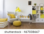white furniture and yellow... | Shutterstock . vector #467038667