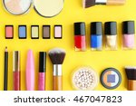 set of decorative cosmetics on... | Shutterstock . vector #467047823
