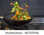 Vegetables Flying Mid Air ...