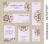 set of business cards for... | Shutterstock .eps vector #467057297
