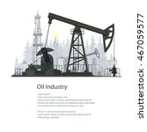 Pumpjack Or Oil Pump Isolated...