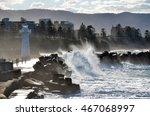 Big Waves Breaking Over...