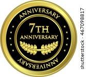 Seventh Anniversary Black And...