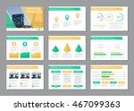 set of green and orange... | Shutterstock .eps vector #467099363