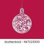 vector christmas decorative... | Shutterstock .eps vector #467123333