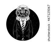 astronaut in suit  defy the... | Shutterstock .eps vector #467125067
