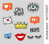 set of trendy patches elements  ... | Shutterstock .eps vector #467133347