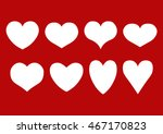 vector set of isolated white...