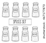 spices in cans set sketch....   Shutterstock .eps vector #467177873