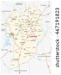 road map of the brazilian city...   Shutterstock .eps vector #467191823