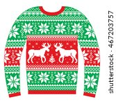 ugly christmas jumper or... | Shutterstock .eps vector #467203757