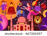 vector illustration of collage... | Shutterstock .eps vector #467204357