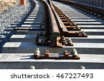 construction of railway tracks  ... | Shutterstock . vector #467227493