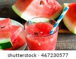 watermelon juice in a glass... | Shutterstock . vector #467230577
